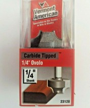 """Vermont American 1/4"""" Ovolo Router Bit 23128, Carbide Tipped. 1/4"""" Shank - $10.92"""