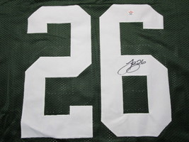 LE'VEON BELL / AUTOGRAPHED NEW YORK JETS GREEN CUSTOM FOOTBALL JERSEY / COA image 3