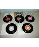 5 45 RPM Records Vintage 1980's Pop J Geils Poco Chic 5th Dimension 12034 - $7.24