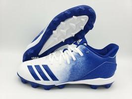 Adidas Icon 4 Md K White/Royal Blue Baseball Cleats Size 5 ( G26696 ) - $29.69