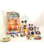 16 Piece Lot Disney Mickey Minnie Mouse Toys Bubble Pipe Corn Holder ETC - $30.00
