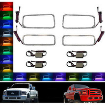 05-07 Ford F-250 Multi-Color Changing LED RGB SMD Halo Lower Headlight Rings Set - $179.95