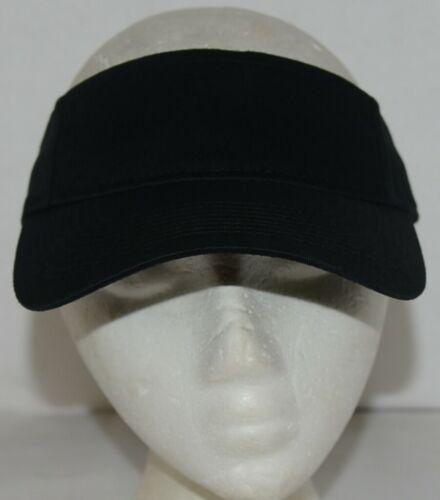 Augusta Sportswear Adult Adjustable Black Sport Twill Visor 6225