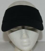 Augusta Sportswear Adult Adjustable Black Sport Twill Visor 6225 image 1