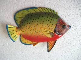 Tropical Fish Wall Plaque Tiki Bar Beach Pool Nautical Decor Size 6 inch... - $8.49