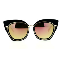 Oversized Womens Sunglasses Big Square Butterfly Double Frame Mirror Lens - $11.95