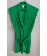 NWT Nordstrom Vintage 80's CHANTEL Green sleeveless terry swimsuit cover... - $29.95