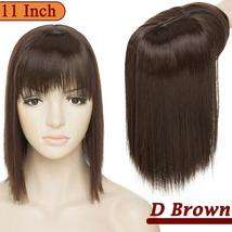NEW 11'' Lady Hair Topper Real One Piece Full Head Clip In Hair Extension image 14