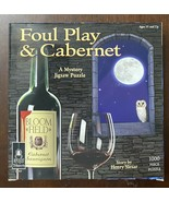 Foul Play and Cabernet Mystery 1000 Pc Puzzle by Bepuzzled Complete w/ B... - $10.05
