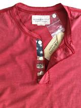 Denim & Supply Ralph Lauren, American Flag Patch Short Sleeve Brick Red... - $26.85
