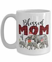 Blessed Mom Christmas Elephants Family funny christmas mug for mom dad father mo - $19.75