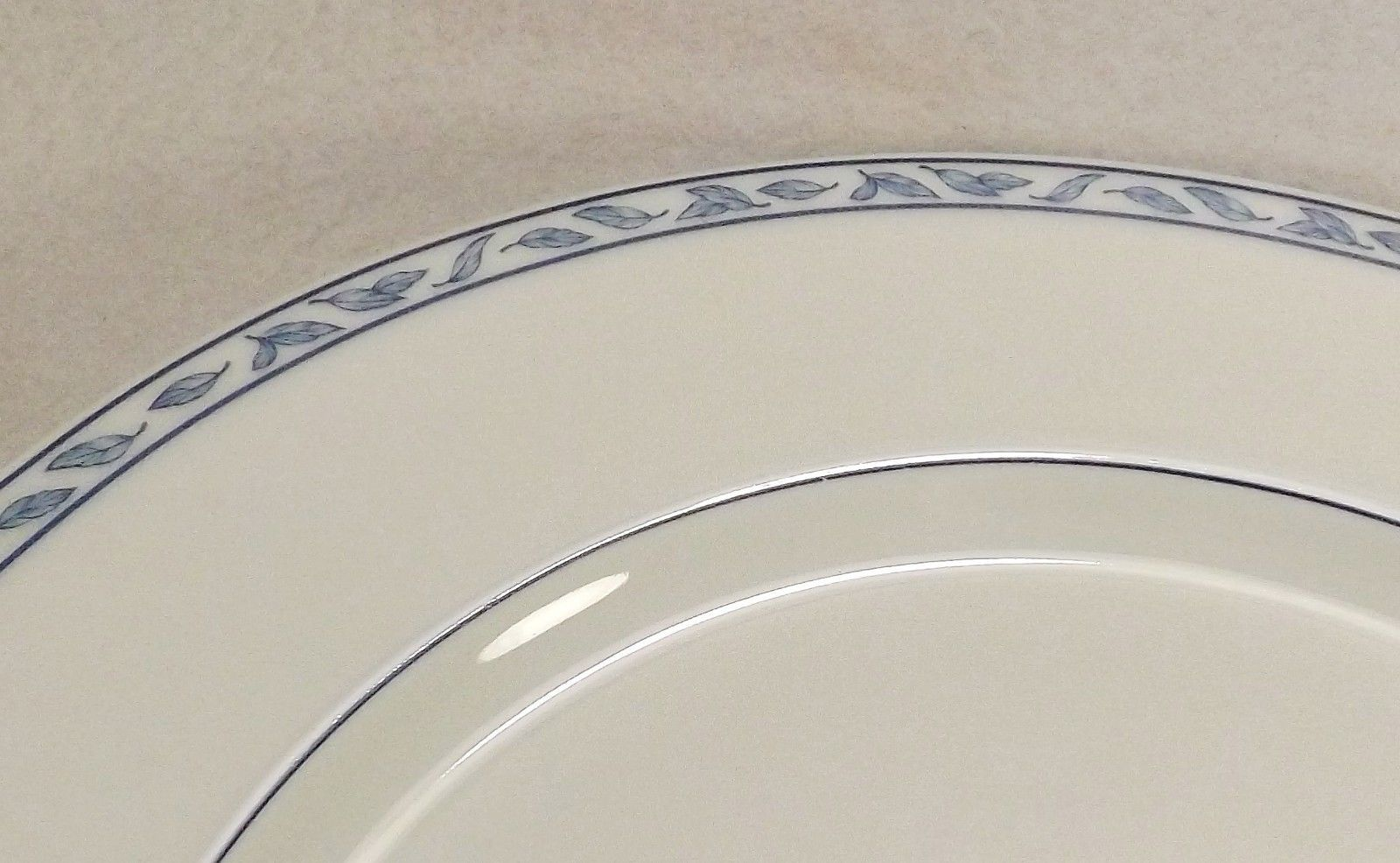"Primary image for Rosenthal Blue Elegance Leaves 10 1/8"" Dinner Plate Blue Roses Leaves"