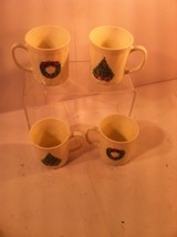 House Of SALEM--PORCELLE--SET Of 4--COFFEE MUGS--NOEL--CHRISTMAS--FREE SHIP--VGC - $21.38
