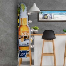 "Corona Light LED Metal Sign Cordless Hanging Bottle Marquee 7.5"" W x 25"" H - $98.72"