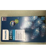 Philips 25ct Christmas LED C9 Faceted String Lights Blue - $12.00