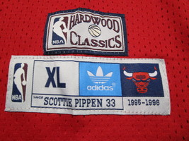 SCOTTIE PIPPEN / AUTOGRAPHED CHICAGO BULLS RED PRO STYLE BAKETBALL JERSEY / COA image 6
