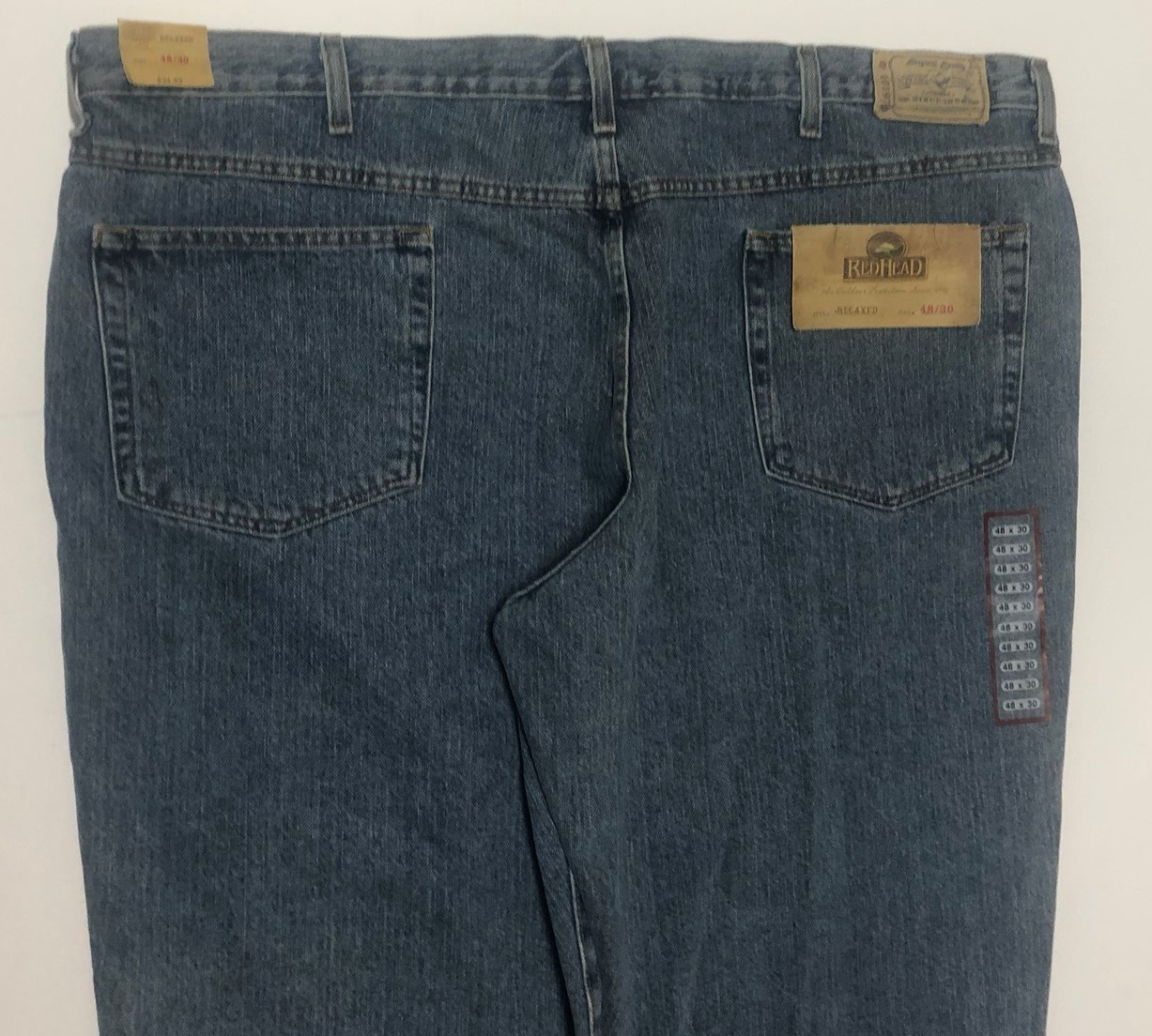 Red Head Relaxed Men's Blue Jeans Sz 48/30 Medium Stone Wash image 6