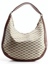 Michael Kors NWT Brown Leather Signature Lauryn Shoulder Bag Purse image 2