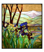 Hanging Stained Glass Windows Iris 36″ x 42″ - $5,146.02