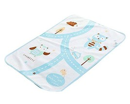 Urine Pad Baby Diaper Pad Mattress Pad Sheet Protector for Baby, Blue Cats image 2
