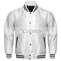 Letterman Baseball College Varsity Bomber Super Jacket Sports Wear White... - $49.98+