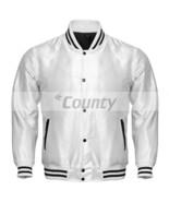 Letterman Baseball College Varsity Bomber Super Jacket Sports Wear White... - $49.98+