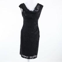 Black floral print lace LAUREN RALPH LAUREN sleeveless sheath dress 6 - $39.99