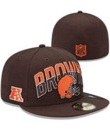 New Era 59Fifty Cleveland Browns On The Field Football Hat Cap Sz 6 1/2 - £14.50 GBP