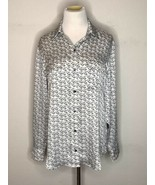 EQUIPMENT FEMME Women's Blouse Lightweight Long Sleeve Button Up Sz M - $29.85