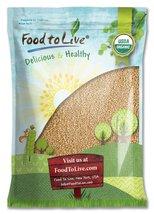 Food to Live Certified Organic Amaranth Grain (Whole Seeds, Non-GMO, Bul... - $25.48