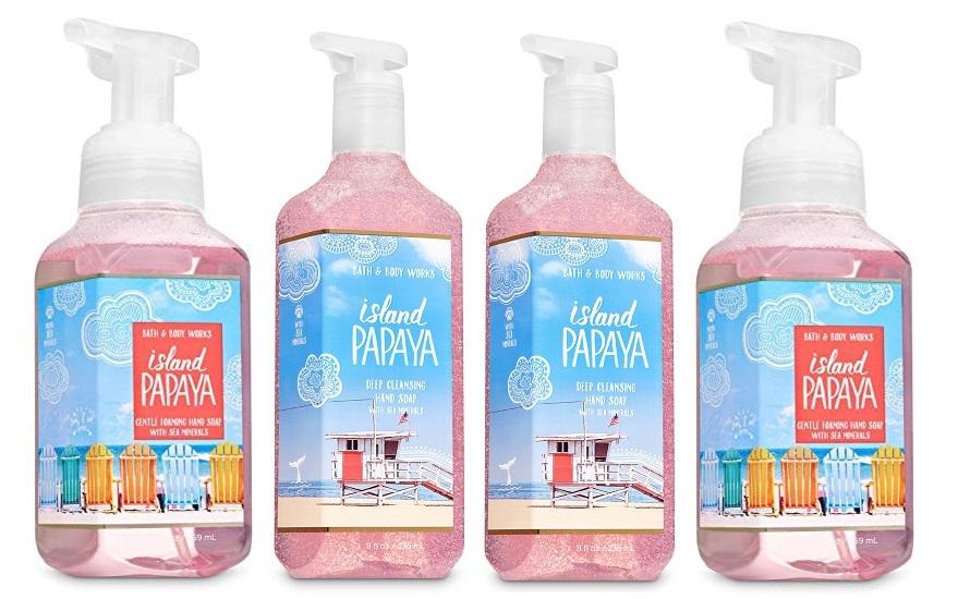 Bath & Body Works Island Papaya Deep Cleansing & Gentle Foaming Hand Soap Set