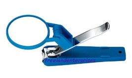 Nail Toenail Clipper with Magnifier ~ BLUE Color ~ NEW Sealed Pkg ~ BLUE (2012) - $10.84