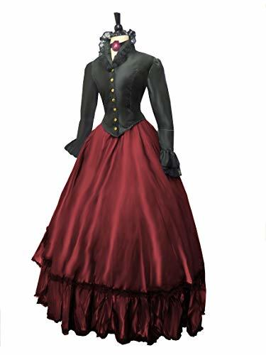 Victorian Rider Historical Costume Equestrian (S/M, Burgundy)