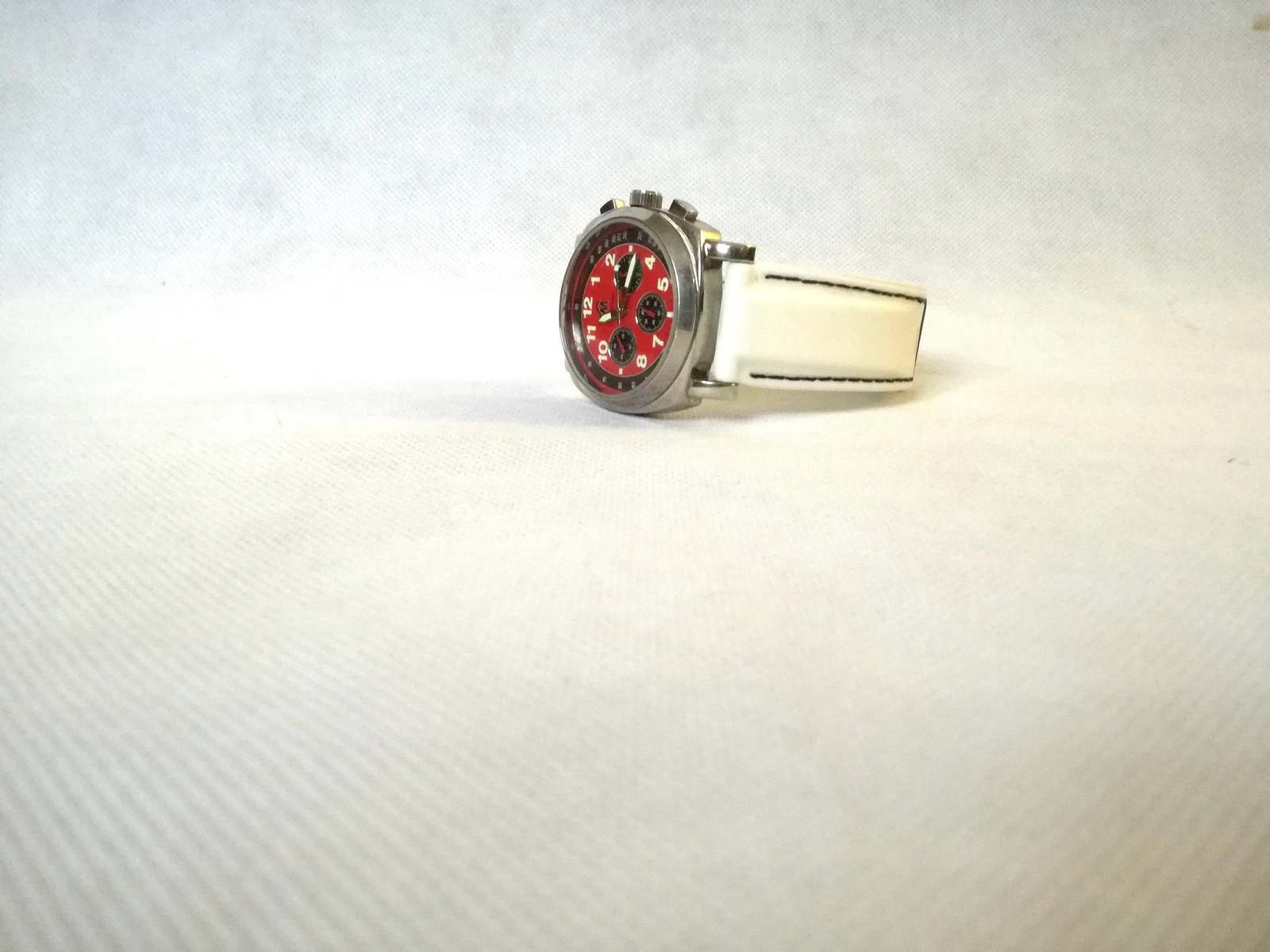 Primary image for Vintage watch / chronograph Rare watch / red rare dial / mans watch / Gents  / W
