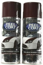 2 RUST-OLEUM Spray Peel Coat Peelable Rubber Coating Gloss Black Cherry ... - $17.99