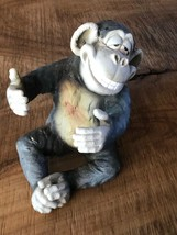 Ceramic Monkey With a Smiling Face - $24.75