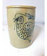 RINNY STABER Vintage Blue Glaze Stoneware Pottery Jar  - $61.75