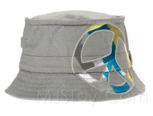 d72f92aa0e8 S l1600. S l1600. NWT Gymboree appliqué Peace Sign Gray Canvas Bucket Hat  Boy Girl Toddler Cap
