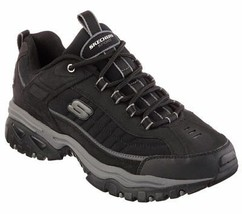 Skechers EW Wide Width Black shoes Men's Sport Casual Soft Leather Sneak... - $56.99