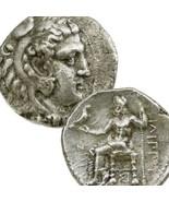 ALEXANDER the GREAT Type Ancient Tetradrachm Herakles Zeus Philip III Si... - $530.10
