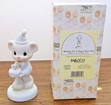 Precious Moments Wishing You A Happy Bear Hug 520659 1994 Mouse Mint/wBox - $8.90