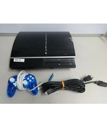 SONY PlayStation 3 PS3 37GB Fat CECHH01 Game Console With Controller Cords  - $98.99