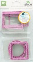 Making Memories Slice Tag Maker Glitter Rims, Pink Rose