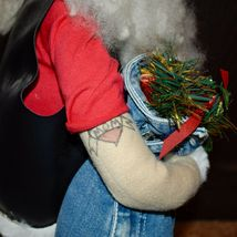 "Handcrafted ""Big Nick"" Biker Santa Claus Father Christmas Signed 24"" Cloth Doll image 10"