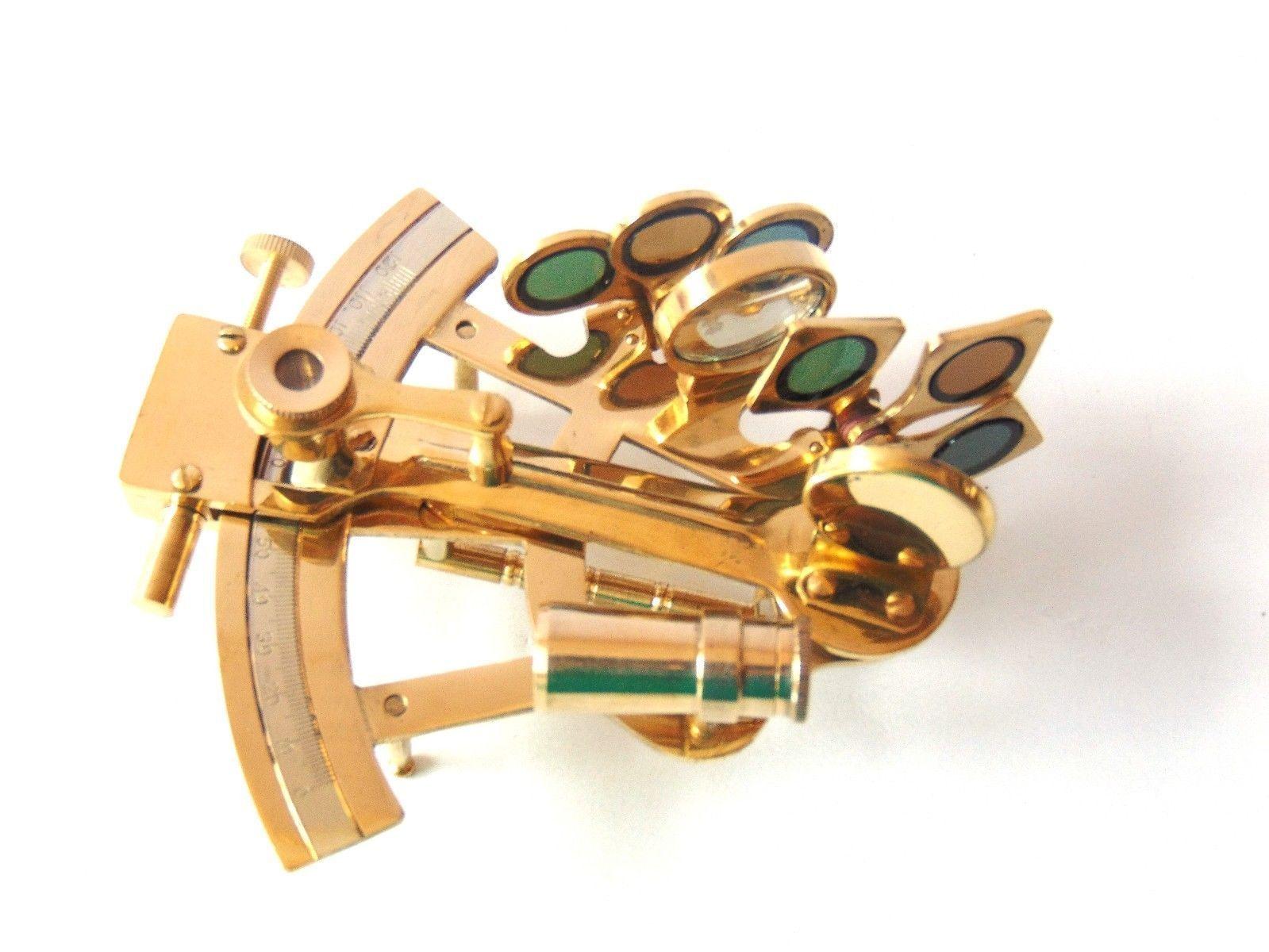 Nautical Handmade Brass Working Sextant ~maritime Astrolabe~sextant Gift Maritime