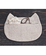White Cat Beauty Bag Cosmetics Cat Pouch Cosmet... - $17.00