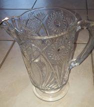 Vintage Clear Glass Decorative Serving Pitcher ... - $24.00