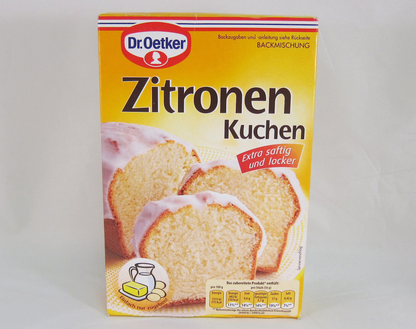 Dr.Oetker ZITRONEN Kuchen- LEMON Cake Mix with frosting from Germany