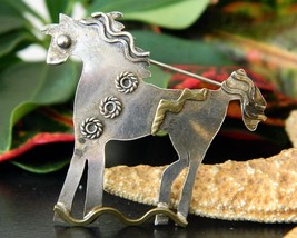 Vintage Horse Sterling Silver Brooch Pin Handcrafted Signed Enewold - $49.95