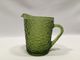 Vintage Anchor Hocking Creamer Soreno Avocado G... - $12.99